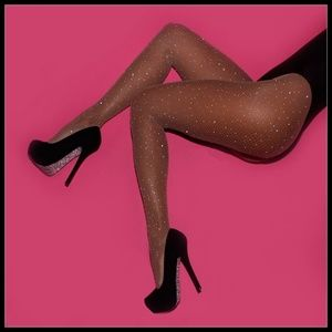 ❤️NEW Sexy Bling Fishnet Nude Stockings #D08N